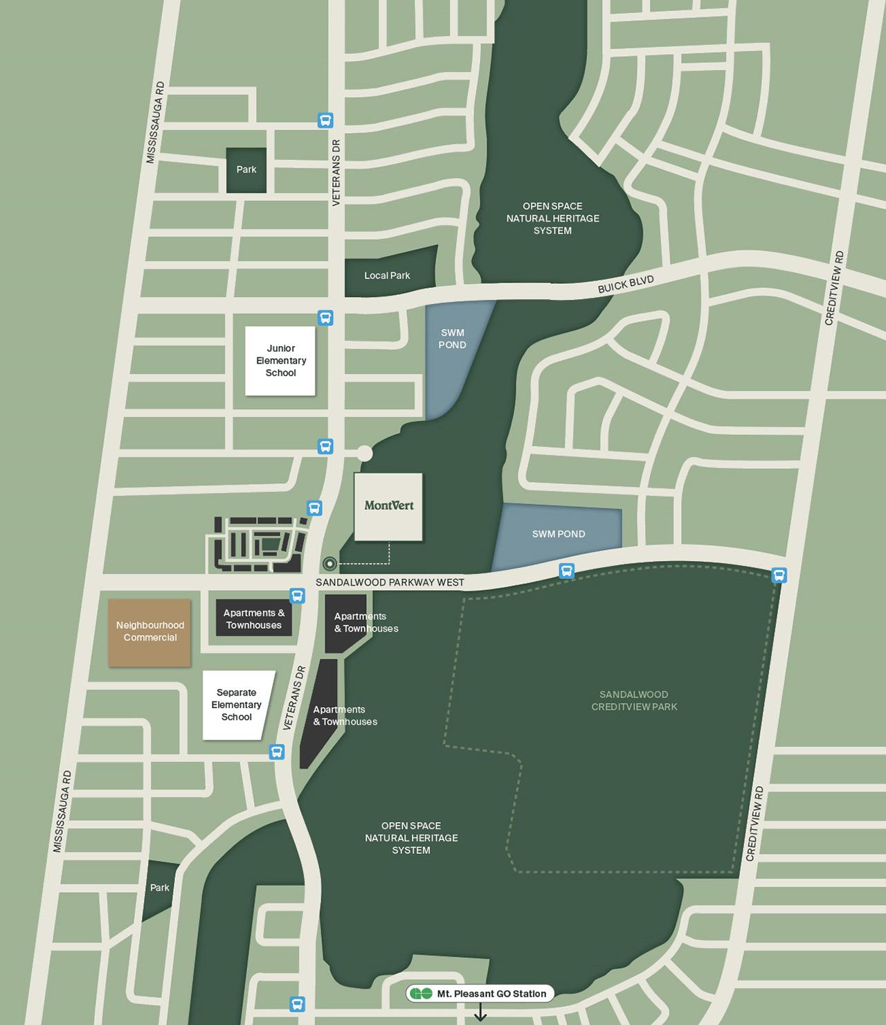 MontVert Condos map